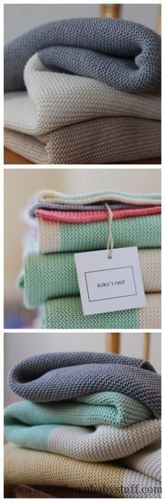 Baby Knitting Patterns Supersoft Cotton Baby Blankets | for the modern nesting fami...