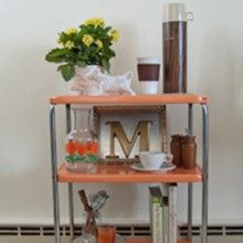 Upcycling a Metal Rolling Cart in Four Easy Steps
