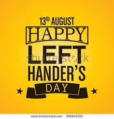 Happy Left-handers Day Background