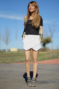 Summer look with Zara wrap shorts