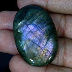 70.35Cts 100%NATURAL PURPLE POWER LABRADORITE OVAL CABOCHON LOOSE GEMSTONES #Handmade