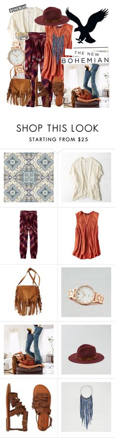 """""""The New Bohemian with American Eagle Outfitters: Contest Entry"""" by hopelovesfashion ❤ liked on Polyvore featuring American Eagle Outfitters and aeostyle"""