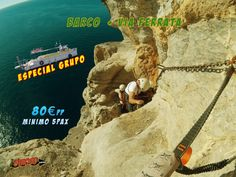 #ferrata#barco#oferta#sirocoaventuras#cartagena
