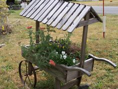 Flower Cart - great for mixture of plants, some needing shade