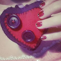 #heart #button #nails #ladybug #fingers
