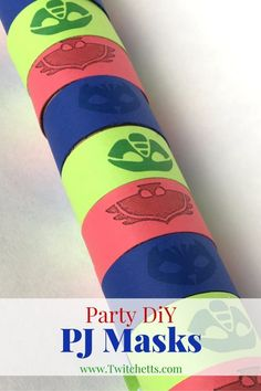 DiY instructions to create cupcake toppers, cake decorations, and PJ Masks bracelets.