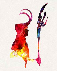 Avengers Loki _ Watercolor Painting Wall by watercolormagazine