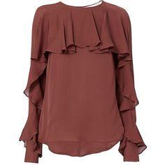 Designer Clothes, Shoes & Bags for Women Red Blouses, Blouses For Women, Blouse Styles, Blouse Designs, Hijab Fashion, Fashion Dresses, Women's Fashion, Fashion Tips, Sleeves Designs For Dresses