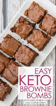 Easy Keto Brownie Bombs | Healthy Food Recipes
