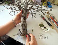 Best 12 Olive tree (Olea europaea)zeytin ağacı By Gül ipek - Empire Vital Miniature Trees, Miniature Crafts, Miniature Houses, Tree Crafts, Clay Crafts, Diy And Crafts, Arts And Crafts, Diy Love, Wire Trees