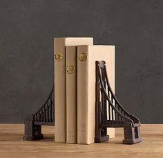 Golden Gate Bridge Bookends from Restoration Hardware