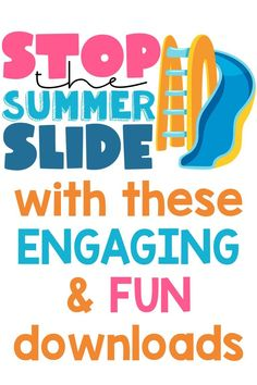 Stop the Summer Slide Reading Resources, Teacher Resources, Summer School Activities, 5th Grade Classroom, Summer Slide, Critical Thinking Skills, Teacher Favorite Things, Preschool Kindergarten, Elementary Teacher