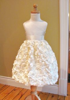 Flower Girl Dress  Coming up Roses  Solid Bodice  by babybeenos, $108.00