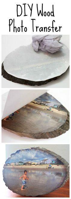 DIY Wood Photo Transfer