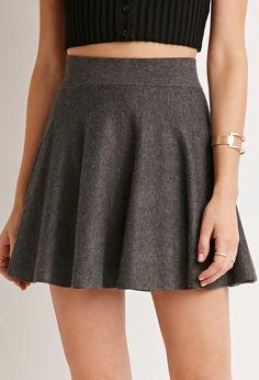 Ribbed Skater Skirt | Forever 21 - 2000172519