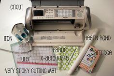 cricut crafts, cut fabric with cricut, fabric applique with cricut