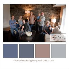 Grey, Taupe and Blue Colour Palette