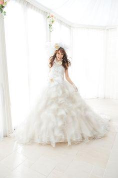 Yuri Ebihara in A Liliale Cute White Wedding Dress