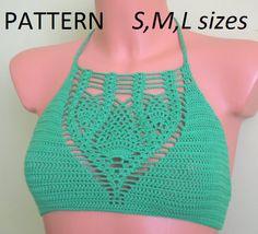 Crochet Halter Top Pattern,  Bikinis PDF