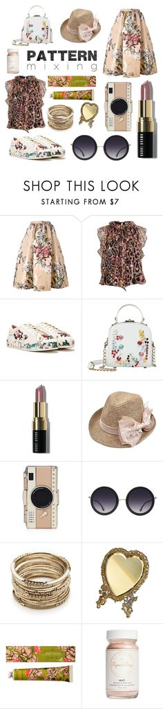 """Pattern Mixing"" by vivi-kk ❤ liked on Polyvore featuring Fendi, Temperley London, Nasty Gal, Bobbi Brown Cosmetics, Kate Spade, Alice + Olivia, Sole Society, EASEL and Flynn&King"