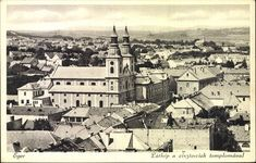 Látkép a ciszterciek templomával Long Time Ago, Hungary, Paris Skyline, City, Travel, Trips, Traveling, Cities, Tourism