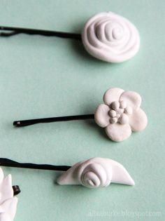 alisaburke: fashion friday- holiday clay hair clips