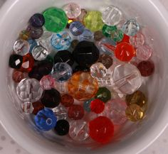Glass Bead Mix Multi Colored Round Faceted by designjuncture, $1.50