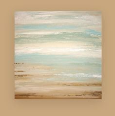 Shabby Chic Art Original Acrylic Abstract Beach by OraBirenbaumArt, $295.00