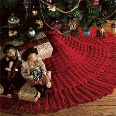 Leisure Arts - Cheery Christmas Tree Skirt Crochet Pattern ePattern, $2.99 (http://www.leisurearts.com/products/cheery-christmas-tree-skirt-crochet-pattern-digital-download.html)