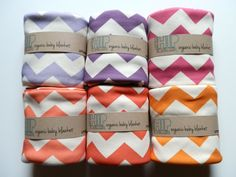 Chevron Baby Blanket, Soft Organic Cotton