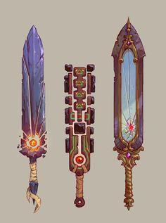 Moniek Schilder (@monschi_art) / Twitter Fantasy Sword, 3d Fantasy, Fantasy Weapons, Fantasy Blade, Dungeons And Dragons Homebrew, D&d Dungeons And Dragons, Cool Swords, Sword Design, Anime Weapons