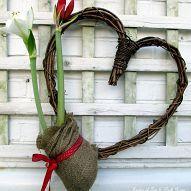 Be my Valentine ~ Amaryllis Heart Wreath (Garden of Len Barb Rosen) Her Wallpaper, Deco Floral, Heart Wreath, Valentines Day Decorations, Holiday Decorations, Be My Valentine, Valentine Wreath, Printable Valentine, Homemade Valentines