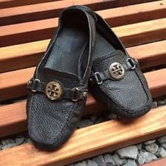 2c12189da33 Tory Burch Loafers 🌟Dark brown Tory Burch loafers with gold logo. 🌟Very  good