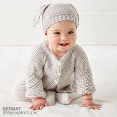 Super Ideas For Knitting Baby Cardigan Pattern Garter Stitch Baby Cardigan Knitting Pattern Free, Baby Boy Knitting Patterns, Baby Sweater Patterns, Knitted Baby Cardigan, Knit Baby Sweaters, Cardigan Pattern, Knit Patterns, Free Knitting, Bernat Baby Sport Yarn