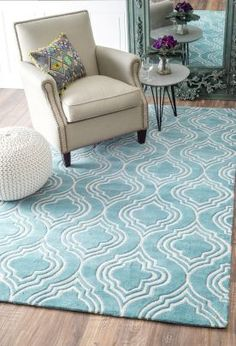 $5 Off when you share! Keno GR13 Turquoise Rug #RugsUSA
