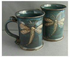 Coffee mugs-Dragon flys