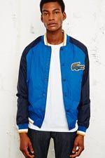 Lacoste Live Contrast Sleeve Bomber Jacket at Urban Outfitters Lacoste, Urban Outfitters, Contrast, Bomber Jacket, Mens Fashion, Live, Men's Style, Sleeves, Jackets