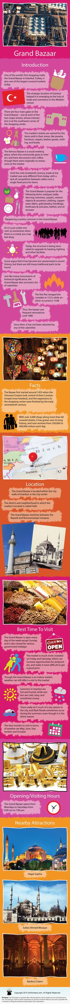 Infographic showing facts and information about Grand Bazaar in Istanbul Turkey…. Infographic showing facts and information about Grand Bazaar in Istanbul Turkey. Know about its Location Best time to visit nearby attractions and Turkey Destinations, Grand Bazaar Istanbul, Turkey Places, Istanbul Travel, Thinking Day, Turkey Travel, Travel Info, Travel Guide, Home Schooling
