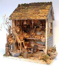 This fantastic autumnal miniature shed has been created by Janet Brownhill of Country Treasures. Following her instructions you can create this wonderful scene for your doll house garden or as a stand alone vignette.