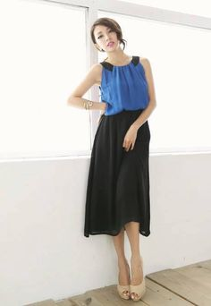 Shop Comfortable New Summer Falbala Split Joint Assorted Colors Sleeveless Skirt on sale at Tidestore with trendy design and good price. Come and find more fashion Knee Length Day Dresses here. Trendy Dresses, Day Dresses, Fashion Dresses, Fashion Bags, Dress P, Lace Dress, Venus Swimwear, Mix And Match Bikini, Daily Dress
