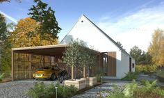 DOM.PL™ - Projekt domu DZW Odważny 2 CE - DOM DW1-90 - gotowy koszt budowy Cabin, House Styles, Outdoor Decor, Samara, Design, Home Decor, Projects, Log Projects, Decoration Home