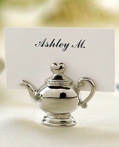 Teapot placecard holder
