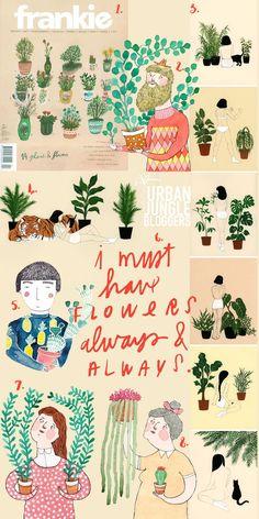 Urban Jungle Bloggers: Plants & Art by @Pinspirationde