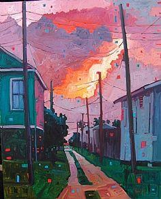 """""""Fire in the Sky"""" by René Wiley Gallery Oil ~ 30 x 24"""