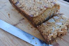 Salted Caramel Pear Bread with Steusel Topping