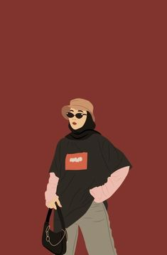 Instagram Font, Hijab Drawing, Linear Art, Baby Tumblr, Islamic Cartoon, Hijab Cartoon, Abstract Iphone Wallpaper, Islamic Wallpaper, Islamic Images