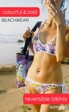 We make eye-catching colourful reversible bikinis decorated with paintings of artists. Discover our bold and striking beachwear collection. Women's swimwear with garish and unique design - Reversible Bikinis, One-Pieces Swimsuits, Beach Bags, Flip-flops - WRAP YOURSELF INTO ARTWORK - #summerclothes #bikinis #bold #vivid #colourful #striking #unique #happy #eye-catching #garish #artwork #fashion #somejam #somejamfashion #beach #summer #beachwear #swimwear #reversiblebikinis #vividcolours