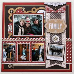 #papercrafting #scrapbook #layout idea: Teresa Collins 'Hello my Name Is' collection