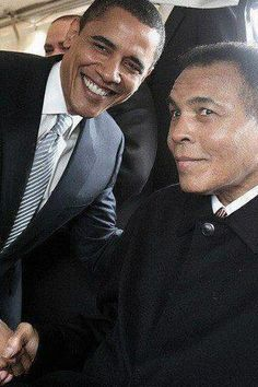 The President meets The Greatest! Mohamed Ali!!!