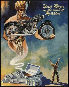 And another great poster from Matchless Bike Poster, Motorcycle Posters, Motorcycle Art, Bike Art, Motorcycle Wheels, Motorcycle Types, Ajs Motorcycles, Vintage Motorcycles, Concept Motorcycles